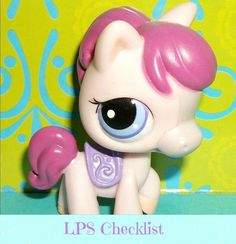 Littlest Pet Shop 1263 Pink Purple Nintendo DS Horse Pony RARE LPS.  Click here: mylittlestpetshops.com for more pets!