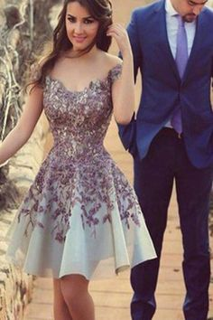 Customized Admirable Sleeveless Homecoming Dresses, Purple Sleeveless Prom Dresses, Short Homecoming Dresses, Charming Appliques Junior A Line Homecoming Dresses,Cheap Short Prom Dress WF01G42-943
