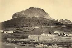 Southern side of Lycabettous Hill, Athens 1864!!! photo by Henri Beck