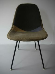 1953 ORIGINAL RARE DKX-1 HARLEQUIN D WIRE SHELL CHAIR BY EAMES FOR HERMAN MILLER