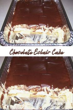 Chocolate Eclair Cake, Instant Pudding Mix, Cool Whip, Eclairs, Frosting Recipes, Graham Crackers, Cocoa, Vanilla, Diet