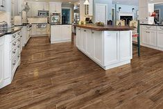 wood look tile with both espresso and honey oak tones