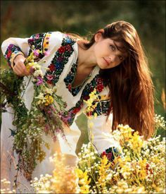 gathering flowers for a vinok