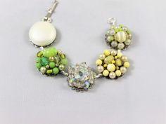 Vintage bracelet of heirloom cluster earrings