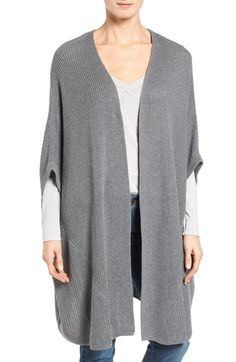 Halogen® Open Front Cardigan available at #Nordstrom LOVE the oatmeal color