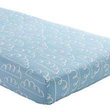 The Land of Nod | Baby Sheets: Blue Airplane Theme Fitted Crib Sheet in Crib Fitted Sheets