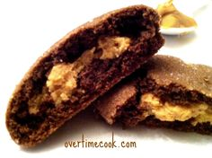 chocolate-peanut-butter-surprise-cookies-open