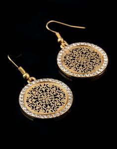 Fashion Crystal Doll Pattern Pendant Earrings For Women Turkish Antique Gold Big Bridal Earings Vintage Jewelry 2018 Soft And Antislippery Furniture