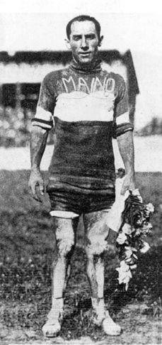 The winner of the 1923 Giro d'Italia, Costante Girardengo...