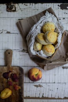 honeysuckle scones/biscuits & sea salt peach butter by Beth Kirby | {local milk}