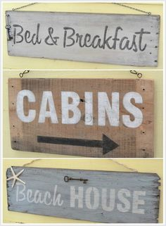Rustic Signs Made from an Old Crate and Old Sign Stencils from MySalvagedTreasures.com