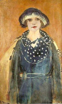 Autoportrait avec chapeau, vers 1910-1920 (Self portrait with hat) Émilie Charmy (French, 1878-1974)