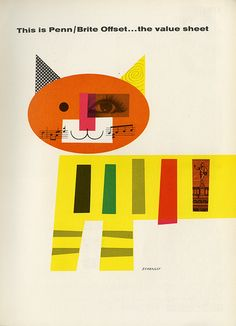 Vintage ad for Penn/Brite offset paper by Tom Eckersley