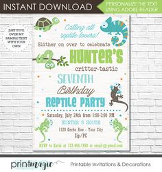 Reptiles coloring pages 2017 2018 homeschool pinterest reptile birthday invitation filmwisefo Image collections