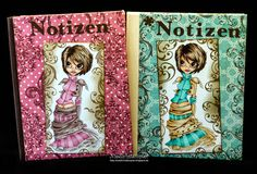 Notizbücher, coloriert mit Copic