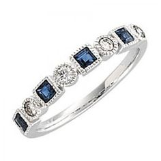 Alternating shapes and stones this fun sapphire and diamond eternity band is stunning! Ring Name: Sissi 14 Karat White Gold Accent Stones Trade Name: Diamonds Carat Weight: carats natural conflict Sapphire Eternity Band, Sapphire And Diamond Band, Diamond Bands, Diamond Jewelry, Blue Sapphire, Solitaire Diamond, Emerald Band, Sapphire Rings, Aquamarine Rings