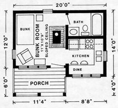 Yukon 256 Sf Floor Plan Cherokee Cabin Company Town And Country Plans Tiny House Floor Plans Small House Plans Cabin Floor Plans