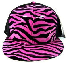Hot Pink Zebra Snapback Flat Bill Hat Cool Flat Bill Hats, Flat Hats, Duck Bill, Camo Stuff, Cute Hats, Pink Zebra, Headgear, Beanies, Scarfs