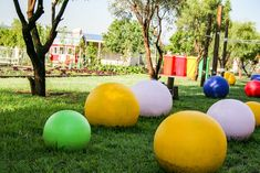 The brightness these balance balls brings is not only for the eye but was a strategic plan to work on children, balance, motor skills, co-ordination and tracking. working their little bodies while having fun Ot Therapy, Herb Farm, Play Yard, Strategic Planning, Motor Skills, Kids Playing, Bodies, Balls, Have Fun