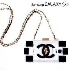 Chanel electroplate building block Samsung Galaxy S5 cases black Free Shipping - Deluxeiphonecase.com