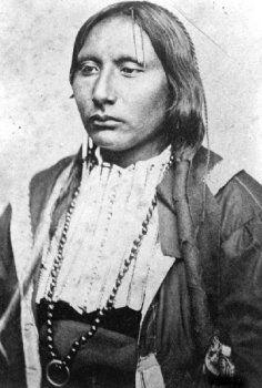 "Big Tree - Kiowa, Big Tree 1845-1929    Big Tree (A'DO-EETTE) was born in 1845 in Kiowa tribe, he belonged to ""Kata"" band of Dohasan.  His brother Dangerous Eagle was also a famous war-chief."