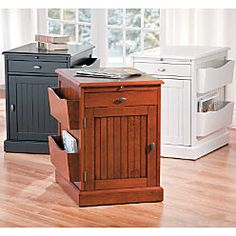 I ordered two online. One for Bill and one for me. Hope it serves the purpose. Right or Left side reversible for both the magazine rack and the cabinet door. Providence End Table At Home Furniture Store, Space Saving Furniture, Small Space Living, Small Spaces, My Ideal Home, Space Saving Storage, End Tables With Storage, Living Room Pictures, Cabinet Doors