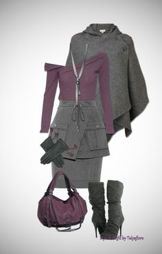 Осенний образ в серо-сиреневых тонах. Purple Outfits, Cute Outfits, Military Jacket, Coat, Womens Fashion, How To Wear, Jackets, Pretty Outfits, Down Jackets