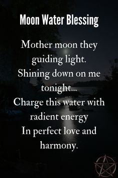 Bless your spell water under the full moon and use this chant to enhance and direct the lunar energy. Full Moon Spells, Full Moon Ritual, Witch Spell Book, Witchcraft Spell Books, Witchcraft For Beginners, Wicca For Beginners, Wiccan Quotes, Wiccan Witch, Wiccan Spells