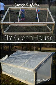 How to build a a quick little greenhouse to hide away some seedlings in.