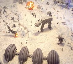 Because decorating means different things to different people, Star Wars fan Barry turned his entire 140-square foot living room into a diorama of the Battle of Hoth. There isn't any Photoshop in the pictures but the way, the explosions...