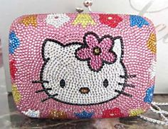 Judith Leiber Hello Kitty Pink Crystal Minaudiere Bag More