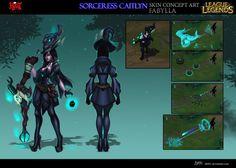 Sorceress Caitlyn skin concept by DBR01