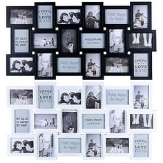 Large Wall Collage Picture Frames 48 8 12 16 18 S Multi Picture Frame Collage Wall Collage Picture Frames, Family Tree Picture Frames, Multi Picture Frames, Quote Collage, Family Collage, Picture Frame Sets, Frames On Wall, Picture Wall, Wall Frame Set