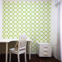 Wall Stencils: An Inexpensive Decorating Trend  #Home #DIY  www.AZFoothills.com