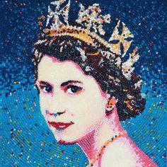 Queen Elizabeth II - younger years by jelly bean artist Roger Rocha