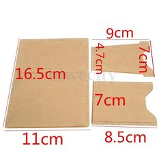 3Pcs Plexiglass Template Leather Pattern Handcraft Tool For DIY Card Holder Case