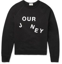 Acne Studios - College Journey Loopback Cotton-Jersey Sweatshirt