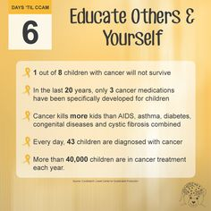 Another way to raise awareness for childhood cancer is to educate yourself and then share the facts with your friends and family. #GoldVibesOnly #CCAM #GoGold
