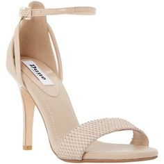 Dune Madeira Ankle Strap Sandals , Nude Leather
