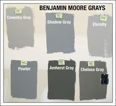 Grey Paint Colours by Benjamin Moore | Gray paint colors, Benjamin ...