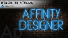#20 Affinity Designer - Neon Reklameschilder | Neon Signs [GERMAN - ENGLISH SUBTITLES] In this tutorial I will show you how to create a neon signs with Affinity Designer 1.5.5.  You can download the brick wall seamless repeating pattern from the tutorial here and use it for free in your own projects: https://goo.gl/nYw8Lz