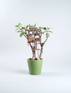 OK, that's fun. My indoor lemon tree might just work for this mini garden treehouse.
