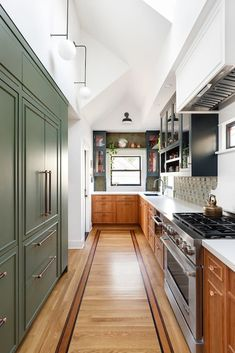 The 11 Paint Colors Featured in Our Favorite Green Kitchens