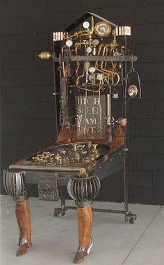 ✯ Steampunk Pinball Machine :: Artist Gianni Fanello ✯