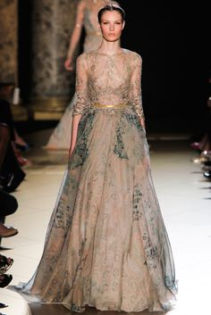 Elie Saab Fall 2012 Couture Fashion Show - Alexandra Martynova (CITY)