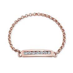 14k+Rose+Gold+Channel+Set+White+Diamond+Ring++-+14k+Rose+Gold+Channel+Set+White+Diamond+Ring MK Jewelry
