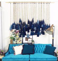 Blue inspiration by Diy Home Crafts, Diy Home Decor, Beautiful Wall, Boho Decor, Interior Inspiration, Decoration, Home Remodeling, Wall Decor, Interior Design
