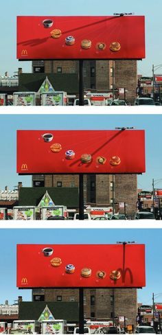 Clever McDonald's Billboard Uses A Shadow Fork To Tell You What To Eat - DesignTAXI.com