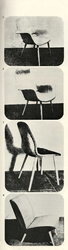 Early #Eames-Saarinen work, organic design chairs on which Ray Eames collaborated with Charles Eames and Eero Saarinen
