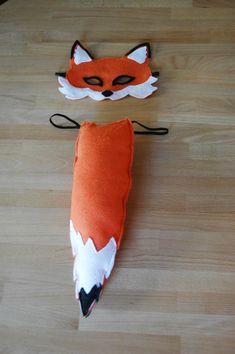 Fox Mask and Tail Set, Halloween costume, Children's costume